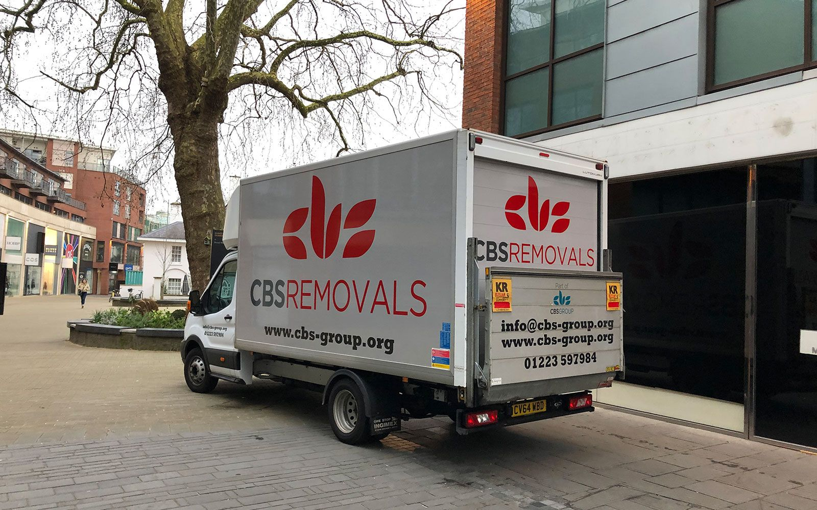 CBS Removals van covering Bedfordshire, Cambridgeshire and Peterborough