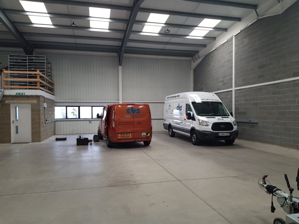 New office with vans